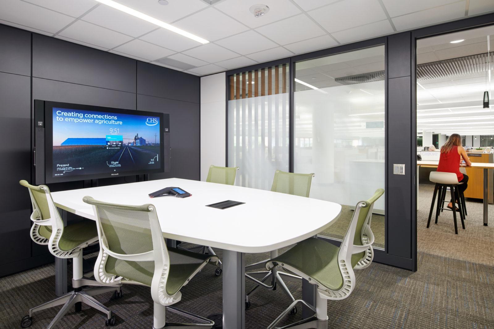 Small collaborative conference room