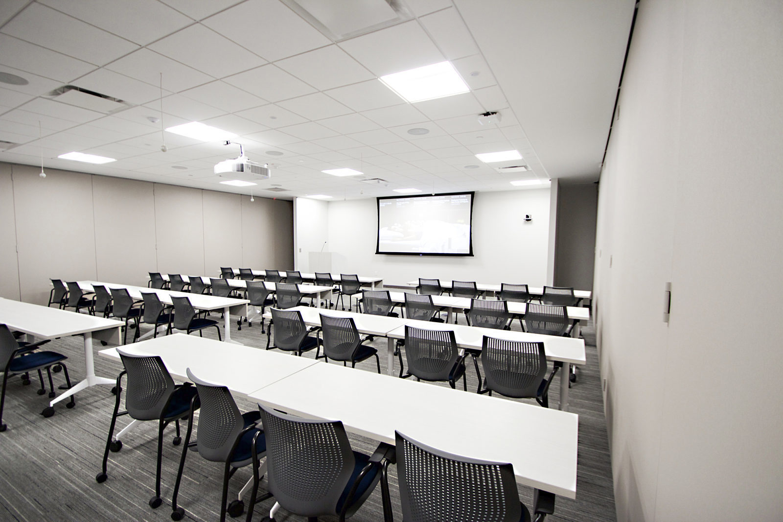 Training room with presentation technology